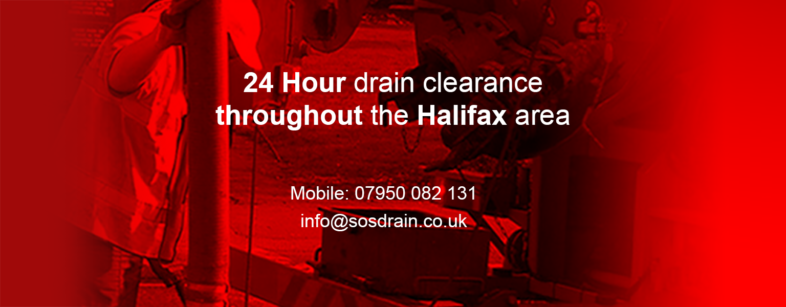 24 hour drain clearance throughout the Halifax area from only £45